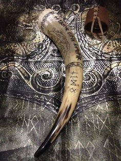 Vikings: #Viking drinking horn.