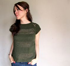 Ravelry: WORK+SHELTER Lace Striped Sweaters pattern by Allyson Dykhuizen ($6)