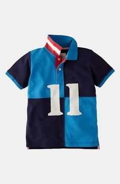 for Luke!  #nsale Mini Boden Colorblock Polo (Little Boys & Big Boys) | Nordstrom