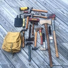 Made a run today. It went well so we'll have to go again as long as the luck keeps up. #axe #axes #hatchets #axejunkies #tools #oldtools #antiques #vintage #blades #knife #knives #rr #railroad #plumb #truetemper #scouts #boyscouts #bsa #camillus #colonial #imperial #hammer #hammers #oldtools