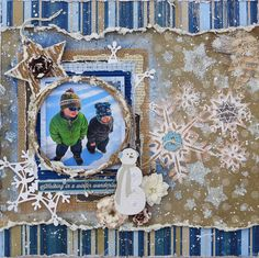 """Snow Dudes - **Scraps of Darkness** DT December Kit - Bunny """"Sleigh Ride"""" and """"White Out"""" paper collections Christmas Scrapbook Pages, Paper Bag Scrapbook, Baby Scrapbook Pages, Scrapbook Sketches, Scrapbook Page Layouts, Scrapbook Supplies, Scrapbook Cards, Scrapbooking Ideas, Bridal Shower Scrapbook"""