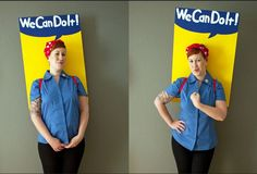 Outstanding Rosie the Riveter costume.
