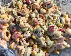 Tortellini, Polish Recipes, Pasta Salad, Potato Salad, Food And Drink, Menu, Chicken, Baking, Health