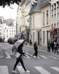 Rainy day in Paris Little Black Shell  (@karen_farber)