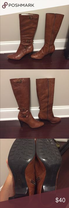 Tall brown boots Classic for fall! bandalino Shoes Heeled Boots