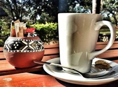 Cappuchino at Illalla Weavers, Hluhluwe.