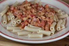Creamy Bacon Pasta- Bacon and pasta in one dish YUM!