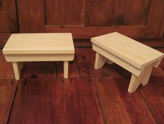 """Small Pine Decorative Foot Stool - 12""""L  x  7""""W  x 7""""H - Great for a Hooked Top! on Etsy, $25.00"""