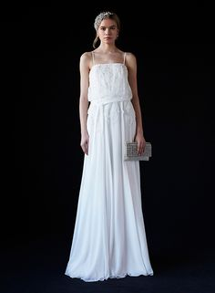 BLOUSING LONG DRESS