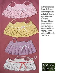 Light & Lacy-LD knitting pattern for Dianna Effner's Little Darling dolls and Hearts 4 Hearts dolls (Updated 2017 with pictures) This simple lace top is a great summery choice, with a lacy skirt & eyelets at the waistline and ed Crochet Doll Dress, Crochet Doll Clothes, Crochet Girls, Crochet Blouse, Knitted Dolls, Crochet Baby, Lace Knitting, Knitting Patterns, Vintage Knitting