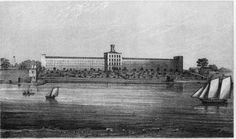 The penitentiary, opening on the now-named Blackwell's Island in 1832