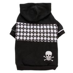 Top Paw™ Black Checker-Print Fleece Hoodie for Dogs - PetSmart