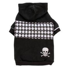 Top Paw™ Black Checker-Print Fleece Hoodie for Dogs - PetSmart