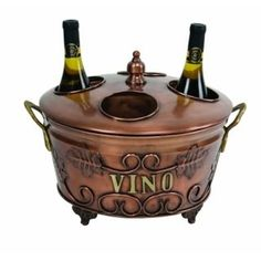 copper decorative items | Copper WINE BOTTLE HOLDER Cooler BUCKET 4 BOTTLE CHILLER Decor ICE