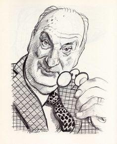 Vladimir Nabokov by Tullio Pericoli  ~Via Uwe Schlemmermeyer