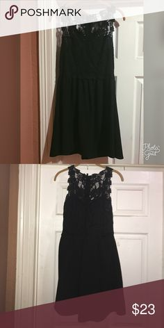 Little Black Dress- Beautiful Detail Little Black Dress / From H&M / Only worn twice / beautiful lace detail on back and front / Size 12 / Divided Dresses Mini