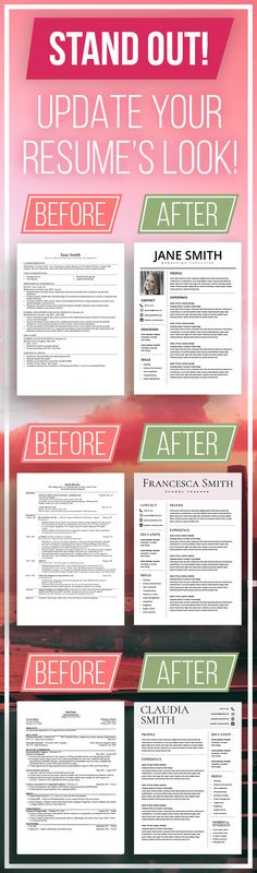 Modern Resume Template - the Claire Professional resume design - how to update your resume
