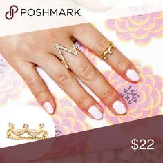 Gold Princess Midi Ring 👑 Brand new 18k gold plated ring. ✨✨ Nickel and lead free. Price firm unless bundled. Jewelry Rings