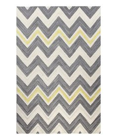 Another great find on #zulily! Ivory & Gray Zigzag Wool Rug #zulilyfinds