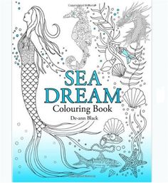 Coloring Book For Adults Sea Dream Beautiful Stress Relief Patterns Fun Designs #coloring