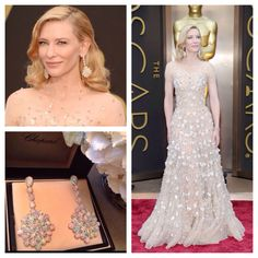 Cate Blanchett in Chopard opal and diamond earrings...