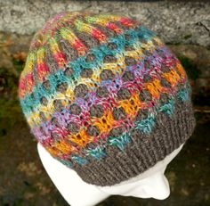 Honeymoon Beanie | Looking for a bit of a challenge? Check out this intermediate knit hat pattern.
