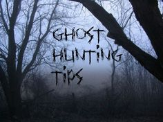 Here are posts that provide tips on how to Ghost Hunt:        Before You Decide to Ghost Hunt     Survival Tips While Ghost Hunting   The S...
