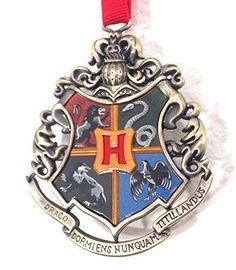 Wizarding World of Harry Potter : Hogwarts School Crest Metal Christmas Tree Ornament @ niftywarehouse.com #NiftyWarehouse #HarryPotter #Wizards #Books #Movies #Sorcerer #Wizard