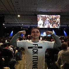 We did it. At #WWDC15 keynote wearing our cool #WALTR tshirts.
