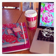 blithelyblonde:    Starbucks and some Lilly Pulitzer make doing schoolwork over Christmas break bearable. #Starbucks #LillyPulitzer #agoodplaylisthelpstoo