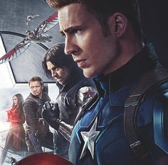 Scarlet Witch, Falcon, Hawkeye, Ant-Man, The Winter Soldier and Captain America (Captain America: Civil War)