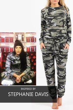 SCO New Womens Camouflage Jogging Suit Set Camo Soft Knitted Full Tracksuit