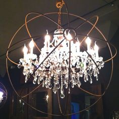 Atom chandelier. The nerd in me was tickled at this find :)