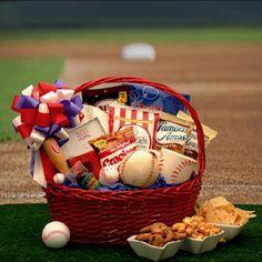 Baseball theme gift basket for raffle
