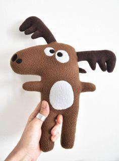 Le Doudou Caribou / Peluche fait main poupée par FunkySunday