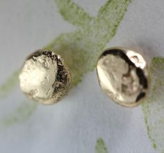 14K Recycled Rose / Yellow or White Gold Nugget by louisagallery, $84.00