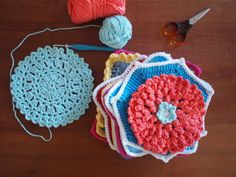 Crochet dishcloth making