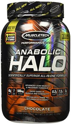 MuscleTech Anabolic Halo AllinOne Lean Muscle Shake Chocolate 25 lbs 114kg ** Be sure to check out this awesome product.