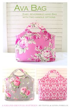 Ava Bag Sewing Pattern 2019 The Ava bag is easy to make and is the perfect everday handbag. The bag is fully reversible with two handle options. This small tote bag is the perfect sty The post Ava Bag Sewing Pattern 2019 appeared first on Bag Diy. Sewing Basics, Sewing Hacks, Sewing Tutorials, Sewing Crafts, Sewing Projects, Sewing Tips, Bag Tutorials, Free Sewing, Diy Projects