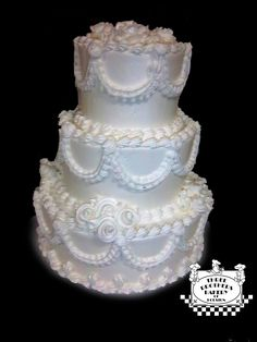 wedding cakes from walmart bakery | 1970s Style traditional wedding cake by Three Brothers Bakery
