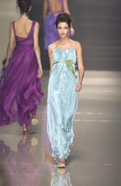 A is for Alberta Ferretti:  Milan Spring 2004.