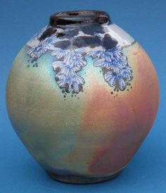Ceramics by The Eeles Family * at Studiopottery.co.uk - Raku Vase by Simon Eeles, 2004
