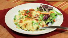 Cheesy Chicken Pierogi Bake | Dashrecipes.com
