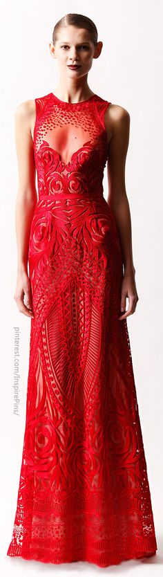 This red dress is absolutely stunning! Those cut outs are to die for! Naeem Khan