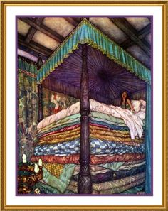 Orenco Originals Princess and The Pea by Edmund Dulac Counted Cross Stitch Pattern