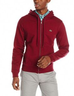 65715c0af Lacoste Men s Hooded Sweatshirt Symbol of relaxed elegance since the Lacoste  brand