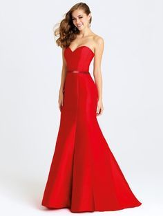 Different Red Trumpet/Mermaid Satin Sashes / Ribbons Sweetheart Prom Dresses - pickedresses.com