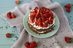 Bakery, Desserts, Food, Small Cake, Strawberries, Chocolate, Mother's Day, Tailgate Desserts, Deserts