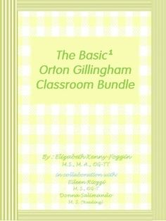 GREAT NEWS! The first Orton Gillingham Basic¹ Bundle for Classrooms is finally here! 65 + Multisensory OG Based Lessons and More! This PDF document has 516 pages in one efile. It is not a zipped file.