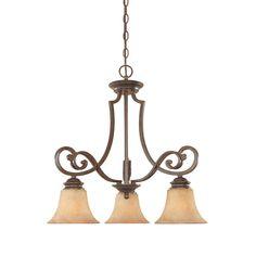 Designers Fountain Vienna 3 Light Forged Sienna Hanging Chandelier 81883 FSN